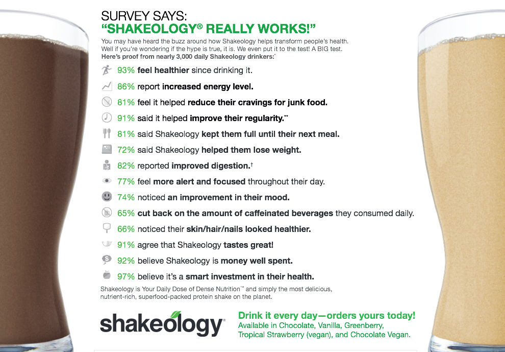 Does Shakeology Work For Weight Loss - 17 Ways To Lose ...