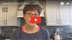 Ingredient List vs Food Label